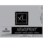 "Canson® XL® 24"" x 36"" Newsprint 100-Sheet Pad (Fold Over): Fold Over, White/Ivory, Pad, 100 Sheets, 24"" x 36"", Rough, (model C100510952), price per 100 Sheets pad"