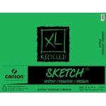 "18"" x 24"" Recycled Sketch 100-Sheet Pad (Fold Over): Fold Over, White/Ivory, Pad, 100 Sheets, 18"" x 24"", Medium"