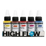 Golden® High Flow Acrylic 10-Color Set: Multi, Bottle, 1 oz, Acrylic, (model 0000953-0), price per set