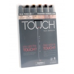 ShinHan Art TOUCH Touch Twin Marker 6pc Set