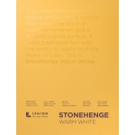 "Stonehenge® Warm White Pads: White/Ivory, 9"" x 12"", 250 g, (model L21-STP250WW912), price per each"