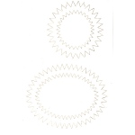 Spirelli  Die Cuts-Circle/oval Wht/ivory (sp2516)