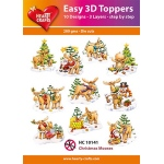 Hearty Crafts  Easy 3D Toppers Christmas Mooses