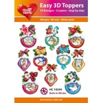 Hearty Crafts  Easy 3D Toppers Balls In Winter