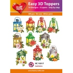 Hearty Crafts  Easy 3D Toppers Lanterns