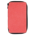 Global Art Materials™ Canvas Pencil Case Rose Capacity 24: 24, Red/Pink, Canvas, (model 256240), price per each