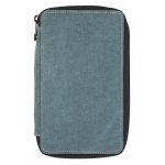 Global Art Materials™ Canvas Pencil Case Steel Blue Capacity 24: 24, Blue, Canvas, (model 258240), price per each