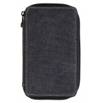 Global Art Materials™ Canvas Pencil Case Black Capacity 24: 48, Black/Gray, Canvas, (model 259240), price per each