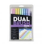 Tombow Dual Brush Pen Set 10 Pastel
