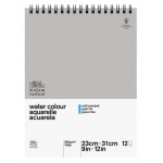 "Winsor & Newton™ 9"" x 12"" Watercolor 140lb. Paper Spiral Pad : Pad, 9"" x 12"", Cold Press, Watercolor, 140 lb"