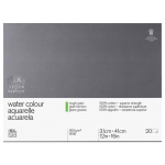 "Winsor & Newton™ 12"" x 16"" Watercolor 140lb. Rough Paper Block: Block, 12"" x 16"", Rough, Watercolor, 140 lb, (model 6663273), price per each"