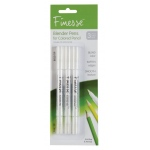 Global Art Materials™ Finesse Colored Pencil Blender: Clear, Brush Pen, (model 87773), price per pack