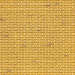 "Architectural Model-Building Material: Brick/ Yellow, 6"" x 18"" Sheet"