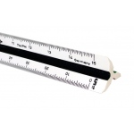 Alvin 30cm High Impact Plastic Metric Triangular Scale