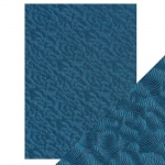 Craft Perfect Deep Sea Dive - Hand Crafted Embossed Cotton Paper- A4 - 150 gms/55 lbs -  9806e