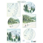 Marianne Design  Cutting Sheet Tiny's Winter Landscapes 2