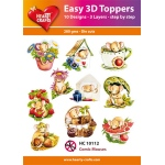 Hearty Crafts  Easy 3D Toppers Comic Mice