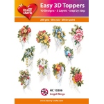 Hearty Crafts  Easy 3D Toppers Angel Wings