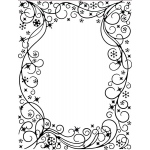 Creative Expressions Embossing Folder - Wintery Frame 5 3/4 x 7 1/2