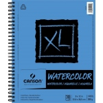 "Canson® XL® 9"" x 12"" Watercolor Pad (Side Wire): Wire Bound, White/Ivory, Pad, 30 Sheets, 9"" x 12"", Watercolor"