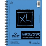 "Canson® XL® 7"" x 10"" Watercolor Pad (Side Wire): Wire Bound, White/Ivory, Pad, 30 Sheets, 9"" x 12"", Watercolor"