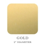 "Mason Row Embossing Seals: Gloss Gold, 2"" Square, Pack of 32 Stickers"