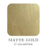 "Mason Row Embossing Seals: Matte Gold, 2"" Square, Pack of 32 Stickers"