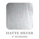 "Mason Row Embossing Seals: Matte Silver, 2"" Square, Pack of 32 Stickers"