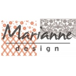 Marianne Design  Embossing Folder Anja's Flower Border