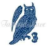 Tattered Lace  Dies - Forest Pines Owl