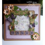 Marianne Design : Collectables Die Set - Vintage Alphabet Die & Stamp Set