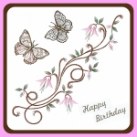 Ecstasy Crafts Embroidery Pattern - Dancing Butterflies