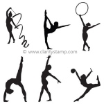 Claritystamp  - Wee Gymnasts Clear Stamp Set