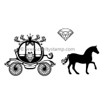 Claritystamp  - Diamond Horse & Carriage A6 Clear Stamp Set