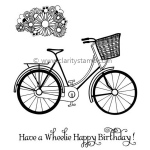 Claritystamp  - Bicycle & Posy Clear Stamp Set A6