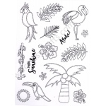 Creative Expressions  - Tropical Island Clear Stamp Set