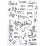 Creative Expressions  - Inspiring Words Journaling Clear Stamp Set