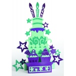 Creative Expressions  Die Paper Cuts 3D - Party Cakes