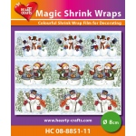 Hearty Crafts  Magic Shrink Wraps. Snowmen (2)  (8Cm)