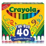 Crayola 40 Count Ultra-Clean Markers Broad Line