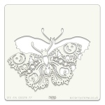 Claritystamp  - Filigraphy Butterfly Stencil 7 X 7 Inch