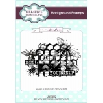 Creative Expressions  Bee Yourself A6 Background Stamp