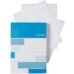 "Alvin® Saray Lined Pad 2.3 x 4.7: Pad, 80 Sheets, 3.3"" x 4.7"", Line, 20 lb, (model ALL12), price per 80 Sheets pad"