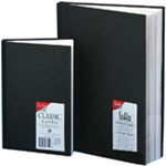 "Cachet® 11 x 14 Classic Black Sketch Book: Wire Bound, White/Ivory, Book, 94 Sheets, 11"" x 14"", 70 lb"