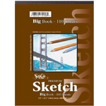 "Seth Cole 9"" x 12"" Premium Sketch Big Book: Fold Over, White/Ivory, Pad, 110 Sheets, 9"" x 12"", 60 lb"