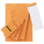 "Rhodia 8 x 11.75 Graphic Sketch/Memo Pad: White/Ivory, Pad, 5"" x 5"", 80 Sheets, 8 1/2"" x 11 3/4"", 20 lb, (model RA18), price per 80 Sheets pad"