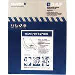 "Chartpak® 8.5"" x 11"" Matte Film: Matte, 100 Sheets, 8 1/2"" x 11"", Adhesive, Film, (model DAF8), price per 100 Sheets box"