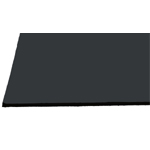 "Alvin® Black on Black Presentation Boards 30"" x 40"": Black/Gray, Matte, Sheet, 25 Sheets, 30"" x 40"", Photography Presentation Board, (model PB3040-25), price per 25 Sheets box"