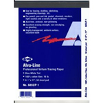 "Alvin® Alva-Line Tracing Paper with Title Block and Border 100-Sheet Pack 12 x 18: Sheet, 100 Sheets, 12"" x 18"", Tracing, (model 6855-B-4), price per 100 Sheets"