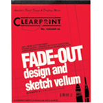 "Clearprint® 1000HP Series 8.5 x 11 Unprinted Vellum Design and Sketch 50-Sheet Pad: Pad, Unprinted, 50 Sheets, 8 1/2"" x 11"", 16 lb, (model CP10001410), price per 50 Sheets pad"